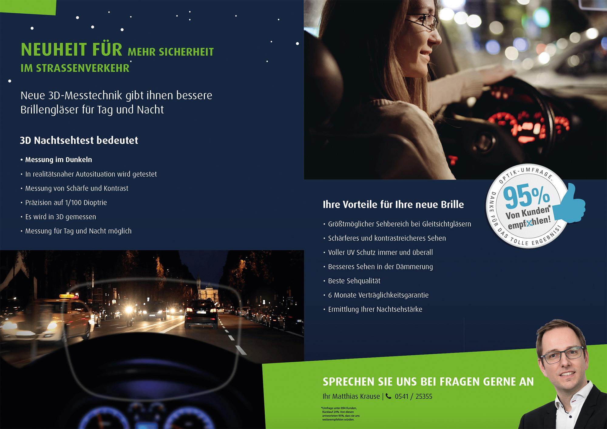 Autofahrer Nachtsehtest Osnabrück